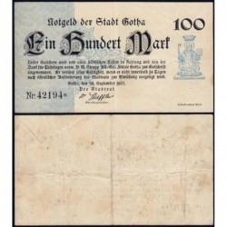 Allemagne - Notgeld - Gotha - 100 mark - Type 2 - 30/09/1922 - Etat : TTB