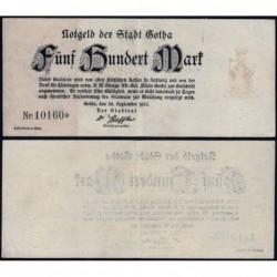 Allemagne - Notgeld - Gotha - 500 mark - Type 1 - 30/09/1922 - Etat : TTB