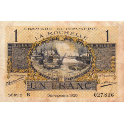 La Rochelle - Pirot 66-9-B - 1 franc - 1920  - Etat : TB-