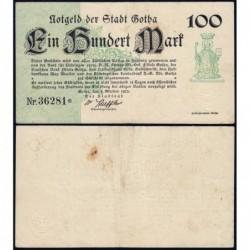 Allemagne - Notgeld - Gotha - 100 mark - 05/10/1922 - Etat : TTB