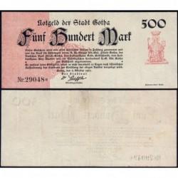 Allemagne - Notgeld - Gotha - 500 mark - 05/10/1922 - Etat : TTB