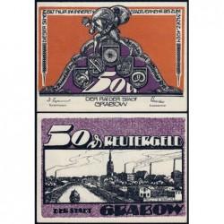 Allemagne - Notgeld - Grabow - 50 pfennig - 1921 - Etat : NEUF