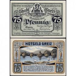 Allemagne - Notgeld - Greiz - 75 pfennig - 05/09/1921 - Etat : NEUF