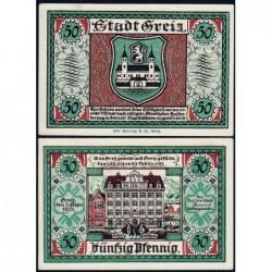 Allemagne - Notgeld - Greiz - 50 pfennig - 05/09/1921 - Etat : pr.NEUF