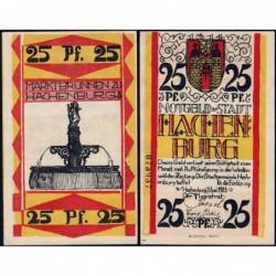 Allemagne - Notgeld - Hachenburg - 25 pfennig - 01/06/1921 - Type a - Etat : pr.NEUF