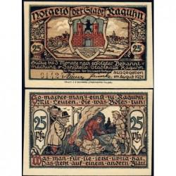 Allemagne - Notgeld - Raguhn - 25 pfennig - Lettre A - 08/1921 - Etat : NEUF