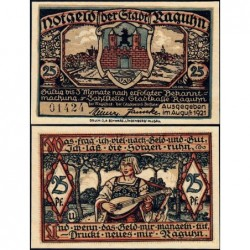 Allemagne - Notgeld - Raguhn - 25 pfennig - Lettre U - 08/1921 - Etat : NEUF