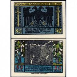 Allemagne - Notgeld - Schwarzburg - 50 pfennig - 01/03/1922 - Etat : NEUF