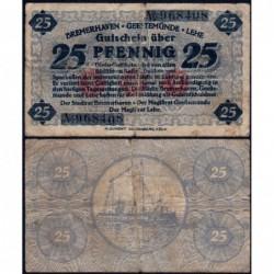 Allemagne - Notgeld - Bremerhaven - 25 pfennig - 1919 - Etat : TB-