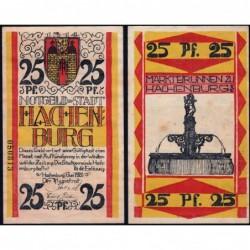 Allemagne - Notgeld - Hachenburg - 25 pfennig - 01/06/1921 - Type c - Etat : SUP