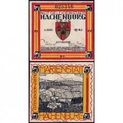 Allemagne - Notgeld - Hachenburg - 50 pfennig - 01/06/1921 - Type c - Etat : pr.NEUF