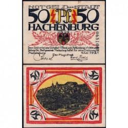 Allemagne - Notgeld - Hachenburg - 50 pfennig - 01/06/1921 - Type c - Etat : SUP