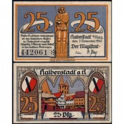 Allemagne - Notgeld - Halberstadt - 25 pfennig - 02/11/1920 - Etat : NEUF