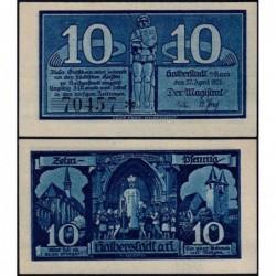 Allemagne - Notgeld - Halberstadt - 10 pfennig - 27/04/1920 - Etat : NEUF