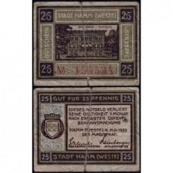Allemagne - Notgeld - Hamm - 25 pfennig - 18/05/1920 - Etat : TB-