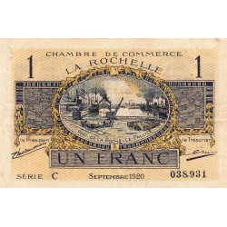 La Rochelle - Pirot 66-09-C - 1 franc - Etat : TTB