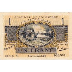 La Rochelle - Pirot 66-9-C - 1 franc - 1920  - Etat : TTB