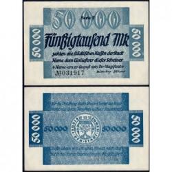 Allemagne - Notgeld - Herne - 50'000 mark - Série F - 25/08/1923 - Etat : SPL+