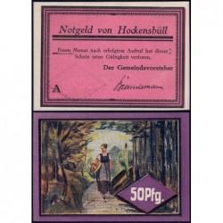 Allemagne - Notgeld - Hockensbüll - 50 pfennig - Série A - 1921 - Etat : pr.NEUF