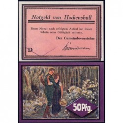 Allemagne - Notgeld - Hockensbüll - 50 pfennig - Série D - 1921 - Etat : NEUF