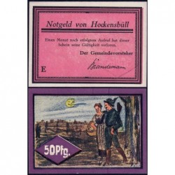 Allemagne - Notgeld - Hockensbüll - 50 pfennig - Série E - 1921 - Etat : NEUF