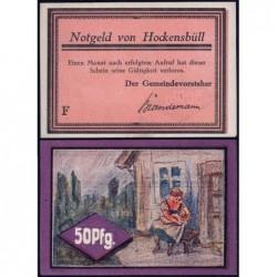 Allemagne - Notgeld - Hockensbüll - 50 pfennig - Série F - 1921 - Etat : pr.NEUF