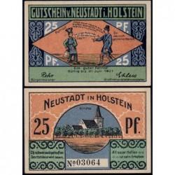 Allemagne - Notgeld - Neustadt-in-Holstein - 25 pfennig - 1921 - Etat : NEUF