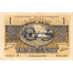 La Rochelle - Pirot 66-09-D - 1 franc - Etat : TTB+