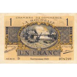La Rochelle - Pirot 66-9 - Série D - 1 franc - 1920 - Etat : TTB+