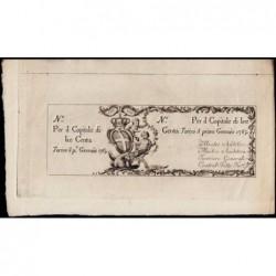 Royaume de Sardaigne - Pick S 113r - 100 lire - Janvier 1765 - Etat : SPL