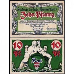 Allemagne - Notgeld - Hamm - 10 pfennig - 01/10/1921 - Etat : SUP