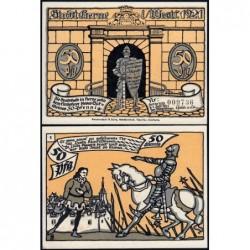 Allemagne - Notgeld - Herne - 50 pfennig - Type 1 - 01/07/1921 - Etat : pr.NEUF