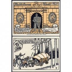 Allemagne - Notgeld - Herne - 50 pfennig - Type 2 - 01/07/1921 - Etat : NEUF