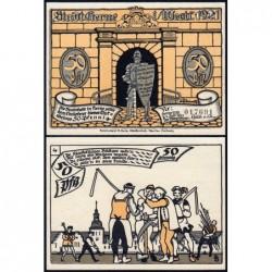 Allemagne - Notgeld - Herne - 50 pfennig - Type 4 - 01/07/1921 - Etat : NEUF