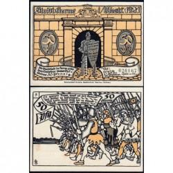 Allemagne - Notgeld - Herne - 50 pfennig - Type 5 - 01/07/1921 - Etat : pr.NEUF