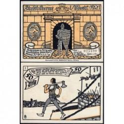 Allemagne - Notgeld - Herne - 50 pfennig - Type 7 - 01/07/1921 - Etat : NEUF