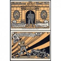 Allemagne - Notgeld - Herne - 50 pfennig - Type 8 - 01/07/1921 - Etat : pr.NEUF