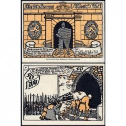 Allemagne - Notgeld - Herne - 50 pfennig - Type 9 - 01/07/1921 - Etat : NEUF
