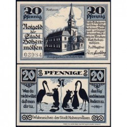 Allemagne - Notgeld - Hohenmölsen - 20 pfennig - 1921 - Etat : NEUF