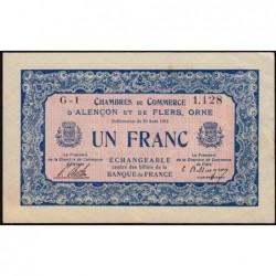 Alençon / Flers (Orne) - Pirot 6-4 - 1 franc - Série G1 - 10/08/1915 - Etat : TTB+