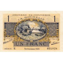 La Rochelle - Pirot 66-9 - 1 franc - Série E - 09/1920 - Etat : SUP+