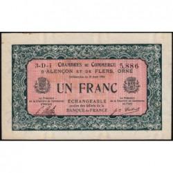 Alençon / Flers (Orne) - Pirot 6-34 - 1 franc - Série 3D1 - 10/08/1915 - Etat : SUP