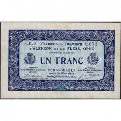 Alençon / Flers (Orne) - Pirot 6-48 - 1 franc - Série 5E2 - 10/08/1915 - Etat : SUP+