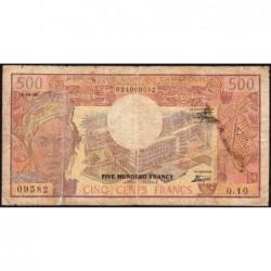 Cameroun - Pick 15c - 500 francs - Série Q.10 - 01/04/1978 - Etat : B+