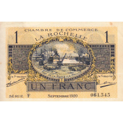 La Rochelle - Pirot 66-9-F - 1 franc - 1920  - Etat : SUP