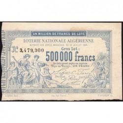 Algérie - Billet de loterie - 1 franc - 1881 - Etat : SUP