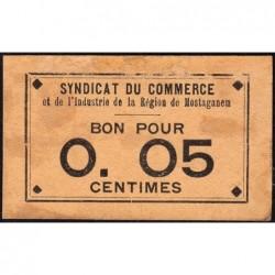 Algérie - Mostaganem 1 - 0,05 franc - 1916 - Etat : TTB