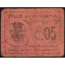 Algérie - Miliana 1 - 0,05 franc - 14/12/1916 - Etat : B+