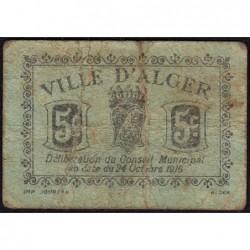 Algérie - Alger 1 - 5 centimes - 24/10/1916 - Etat : TB-