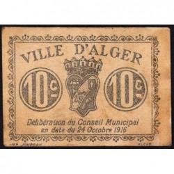 Algérie - Alger 3 - 10 centimes - 24/10/1916 - Etat : TTB